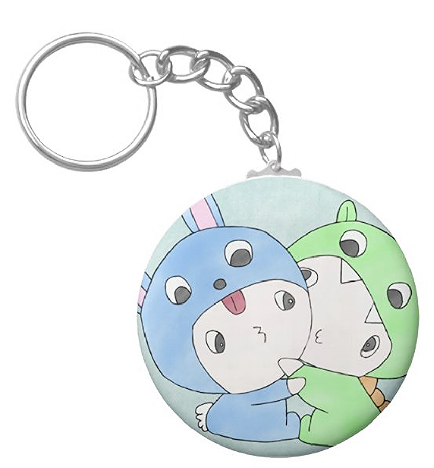 Bunny & Dragon Hugging Keychain