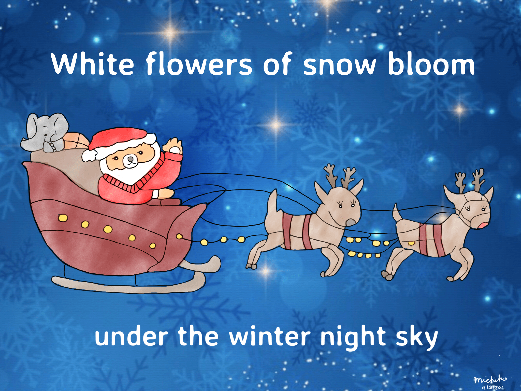 White flowers of snow bloom