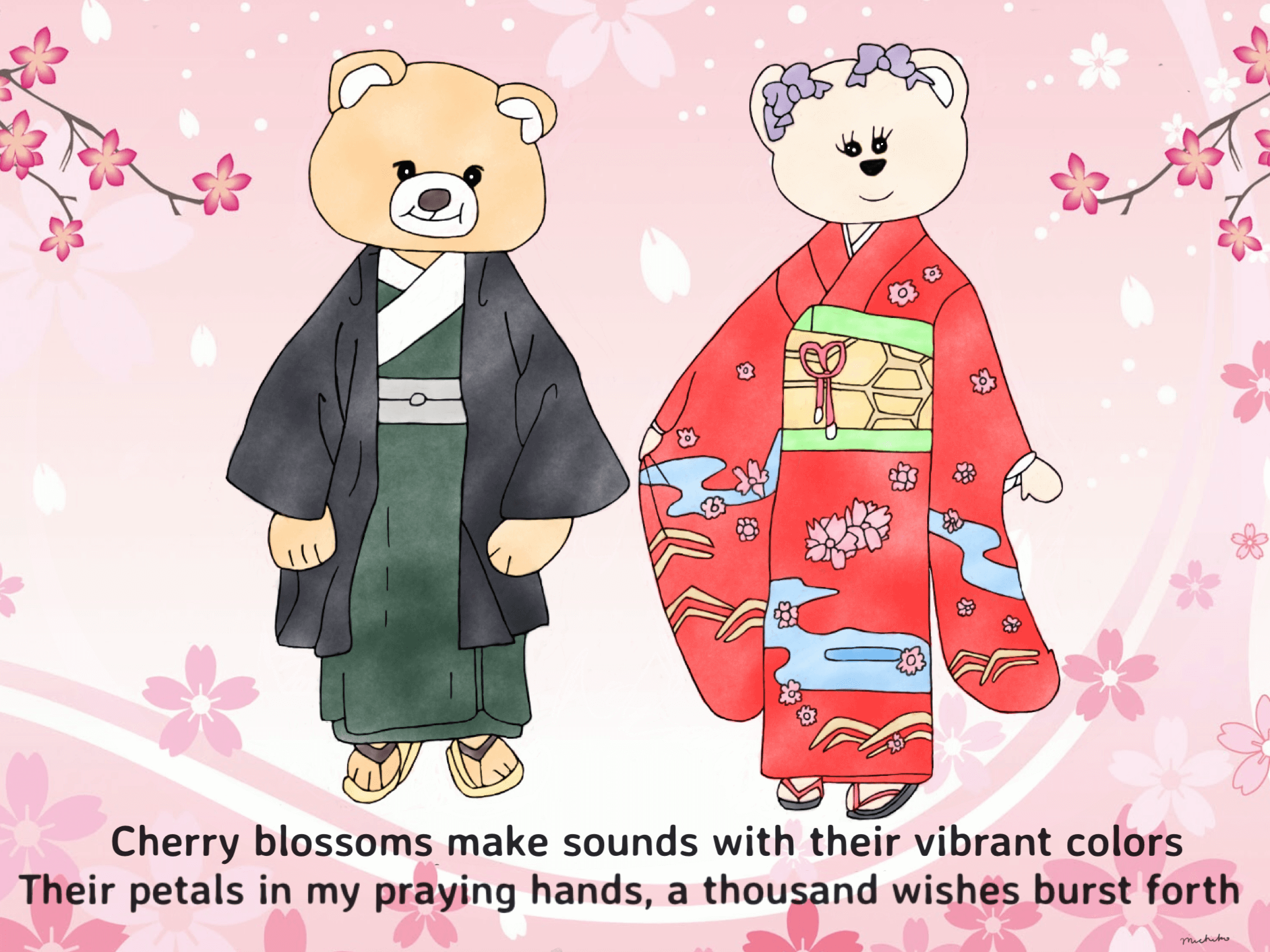 Cherry blossoms and their colors