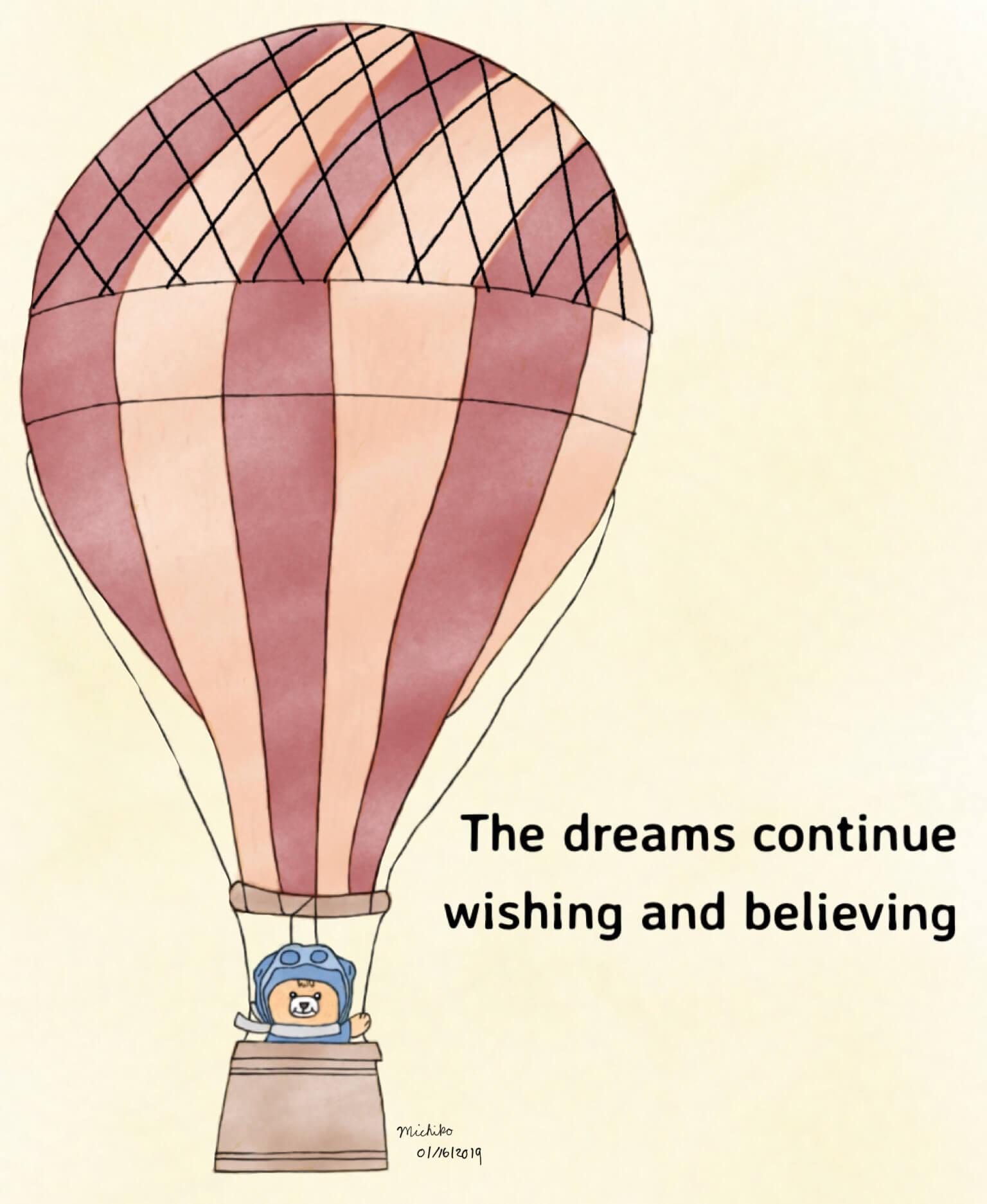 Teddy bear hot air balloon