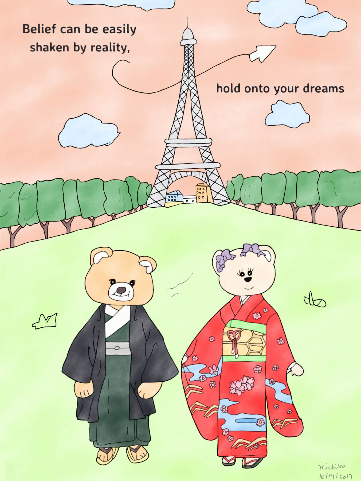 Hold onto your dreams (pink)