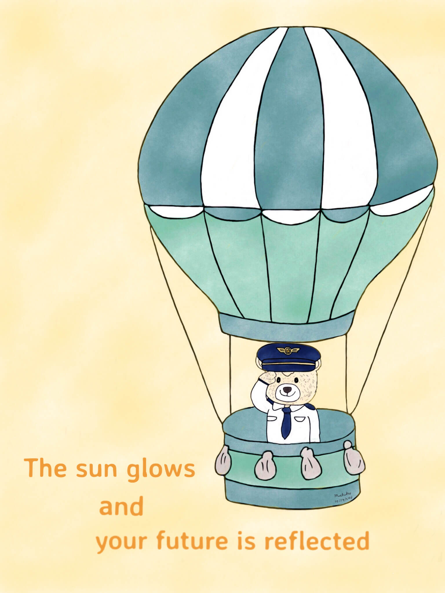 Teddy Bear Pilot Hot Air Balloon